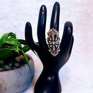 #J17 Silver & Gold Fashion Ring